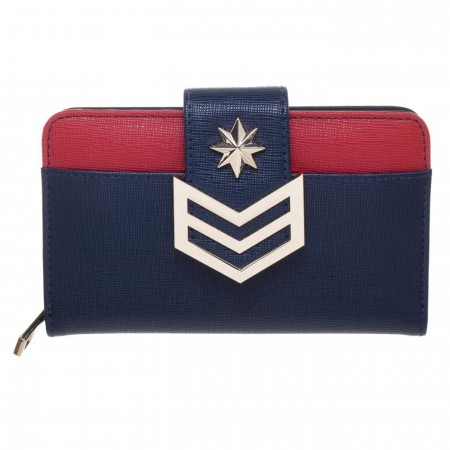 Captain Marvel Chevron Front Snap Wallet