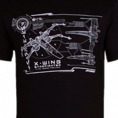 Star Wars X-wing Star Fighter Schematics Men's T-Shirt
