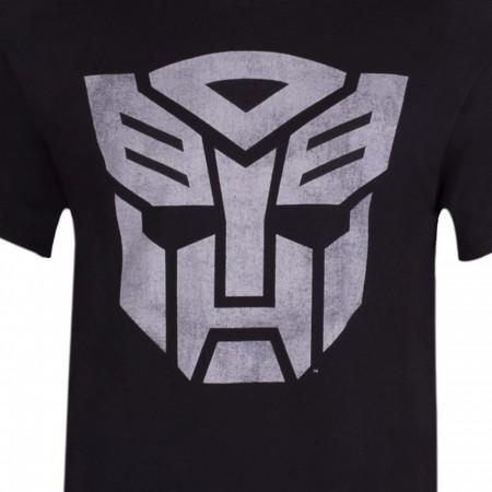 Autobots Transformers Decepticons Men's Black T-shirt
