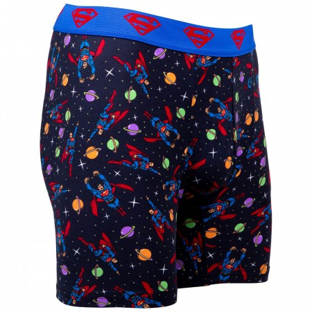 Superman Planets and Stars Boxers Briefs