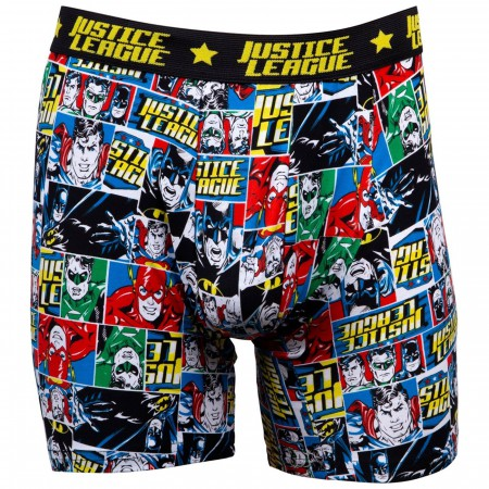 Justice League Comic Print Boxer Briefs