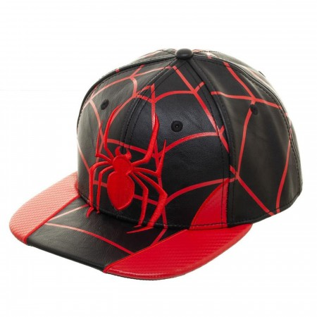 Spider-Man Miles Morales Built up Snapback Hat