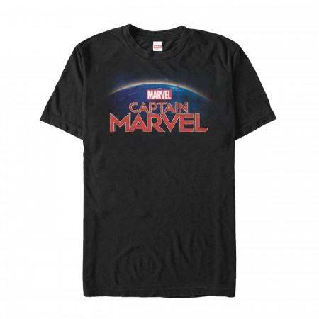 Captain Marvel Movie Title Men's T-Shirt