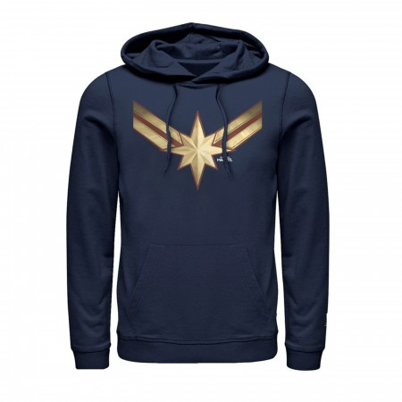 Captain Marvel Star Symbol Costume Men's Hoodie