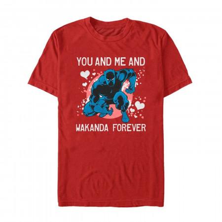 Valentine's Black Panther Wakanda Forever Men's T-Shirt