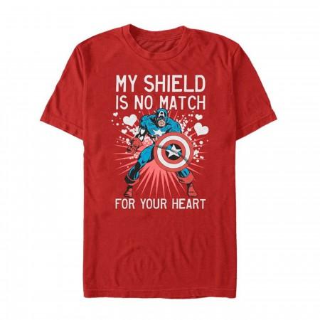 Valentine's Captain America No Shield For Heart Men's T-Shirt