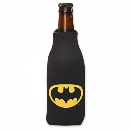 DC Comics Batman Logo Bottle Can Cooler w/ card