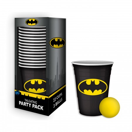 Batman Beer Pong Cups Tailgating Party Pack