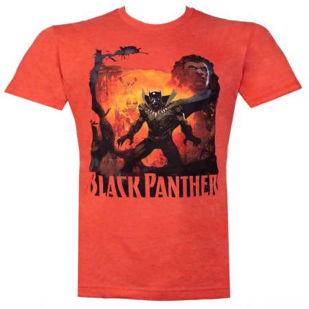 Black Panther History of the King Orange Men's T-Shirt