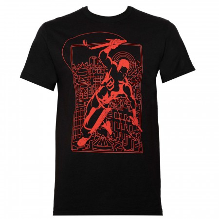 Daredevil Line Art Black Men's T-Shirt