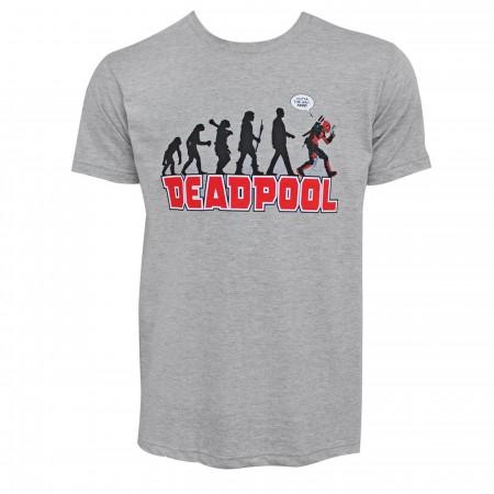 Deadpool Evolution Grey Men's T-Shirt