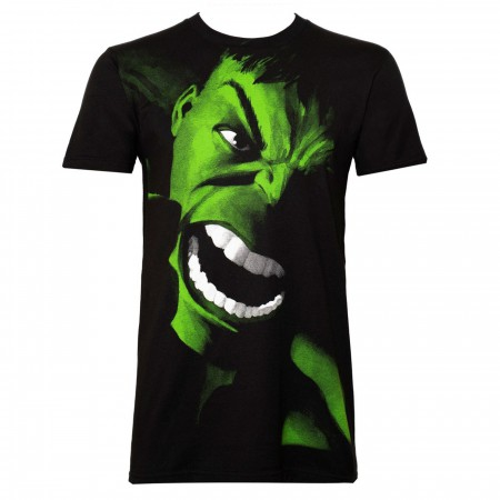 Incredible Hulk Yell Men's Black T-Shirt