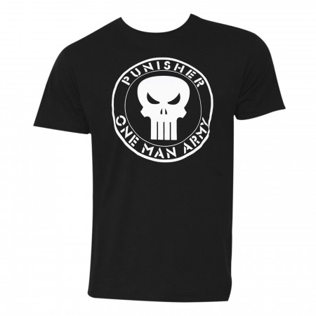 Punisher One Man Army Black Men's T-Shirt