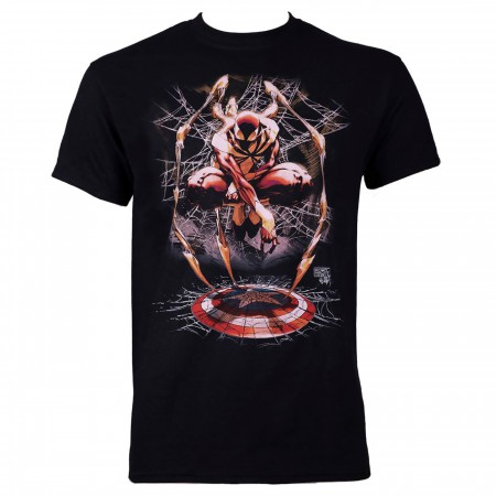 Iron Spider Civil War Spider-man Black Men's T-shirt