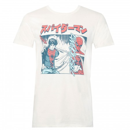 The Manga Spider-man White Men's T-Shirt