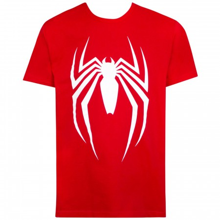 Spider-man Video Game Logo Red Men's T-Shirt