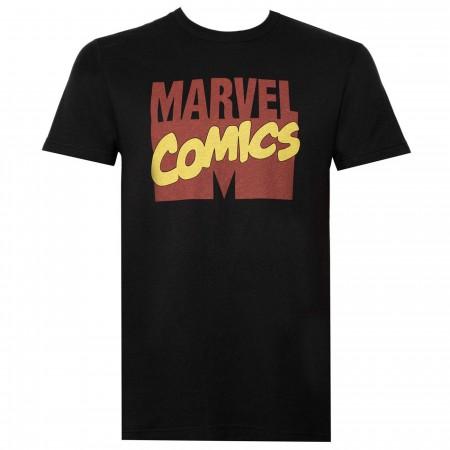 Marvel Comics Logo Coal Men's T-Shirt