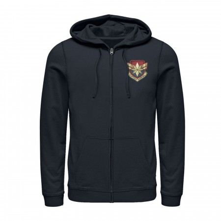 Captain Marvel Star Symbol Woven Men's Hoodie