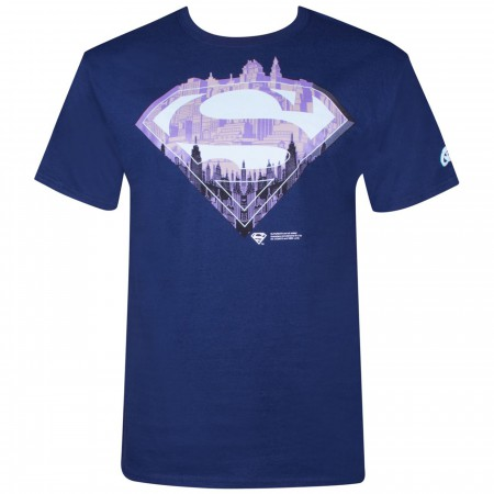 Superman City Symbol Men's Navy T-shirt