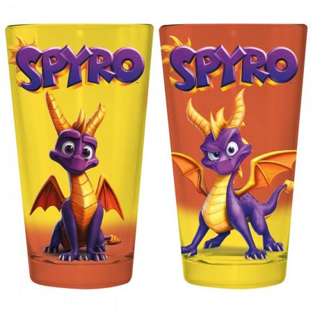 Spyro the Dragon 2-Pack Pint Glass Set