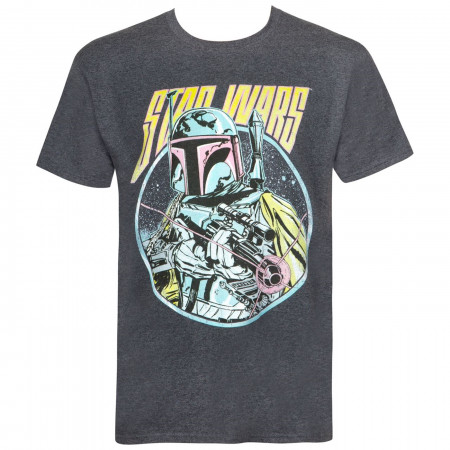 Star Wars Boba Fett Blaster Heather Charcoal Men's T-shirt
