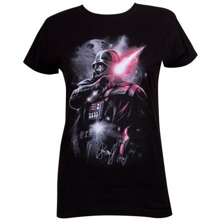 Star Wars Epic Darth Vader Black Women's T-Shirt
