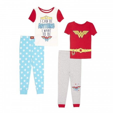 Wonder Woman 4-piece Youth Pajama Set
