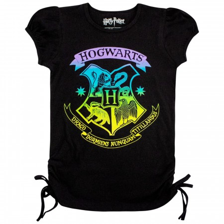 Harry Potter Hogwarts Crest Girls T-Shirt