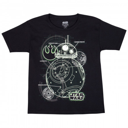 Star Wars BB-8 Glow in the Dark Youth T-Shirt