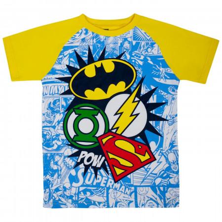 Justice League Symbols Kids Jogger Set