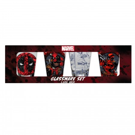 Deadpool Mini Glass 4-Pack