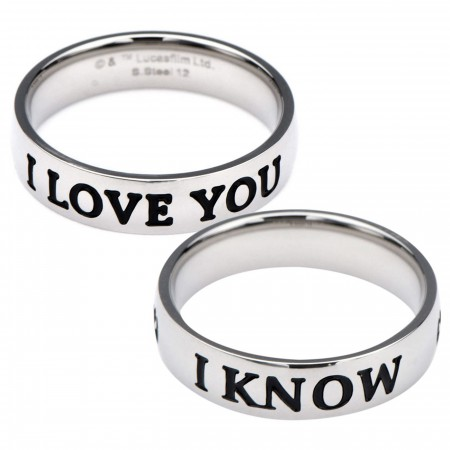 Star Wars I Love You - I Know Ring