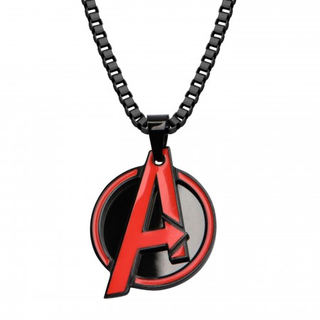 Avengers Red A Pendant Necklace