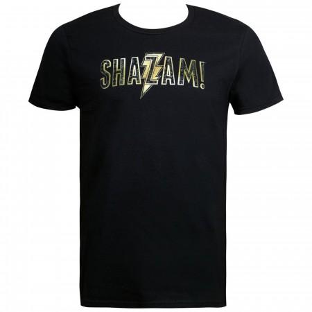 Shazam Movie Text Logo Men's T-Shirt
