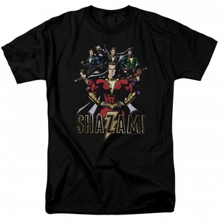 Shazam Movie Group of Heroes Men's T-Shirt