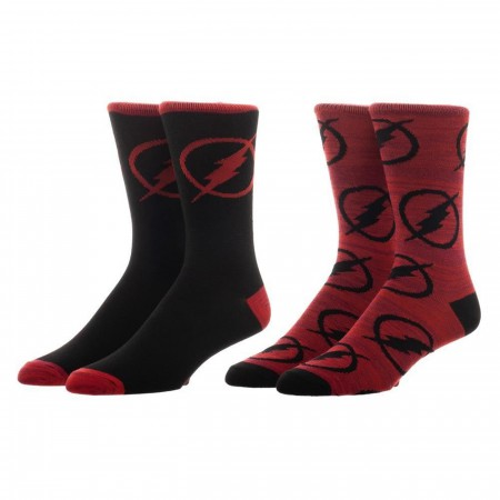 Flash DC Comics Two Pack Crew Socks