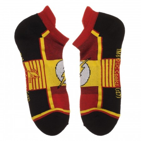Flash DC Comics Three Pack Athletic Ankle Sock Set