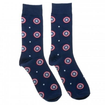 Captain America Men's Dress Socks