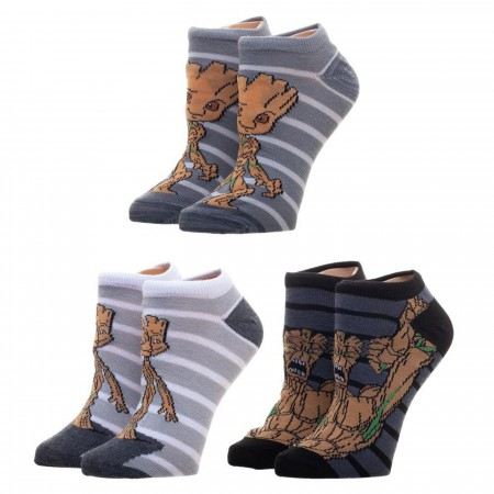 Guardians Of The Galaxy Groot 3-Pack Ankle Socks