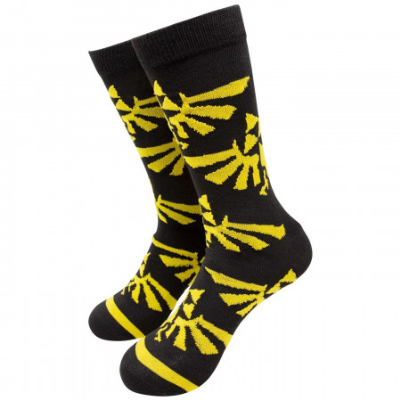 Nintendo Zelda Large All over Print Crew Socks