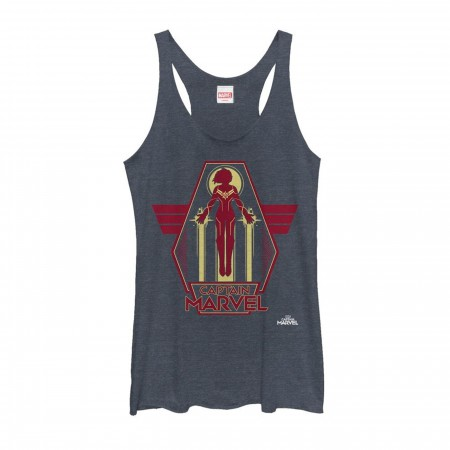Captain Marvel Retro Take Flight Women's Racerback Tank