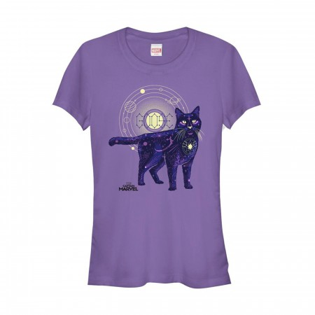 Captain Marvel Celestial Goose Cat Women's T-Shirt