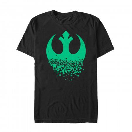 Star Wars Rebel Clover St Patrick's Day Black T-Shirt