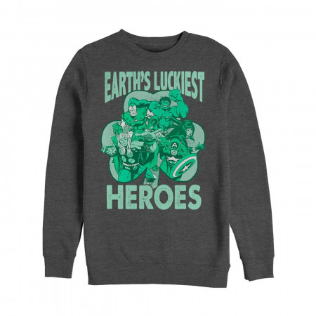 Avengers Earth's Luckiest Heroes St Patrick's Day Crewneck Sweatshirt