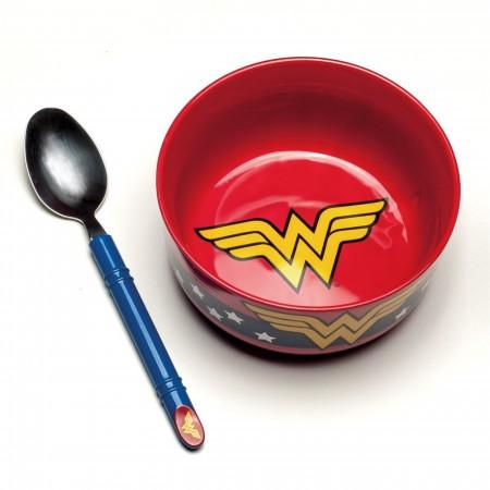 Wonder Woman Breakfast Bowl and Spoon Set
