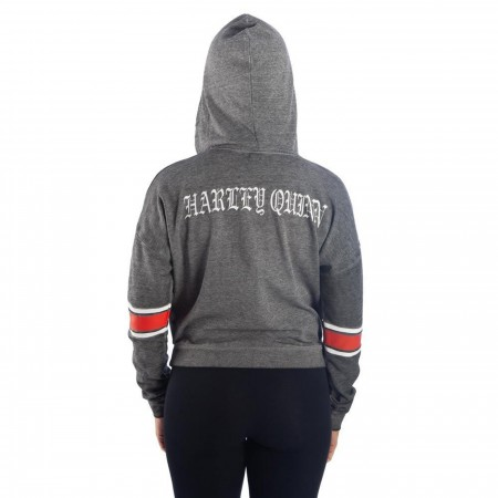 Harley Quinn Burnout Women's Hooded Pullover