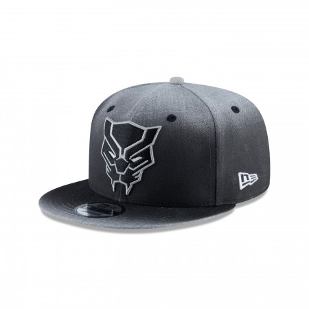 Black Panther Logo Dark Grey New Era 9Fifty Adjustable Hat
