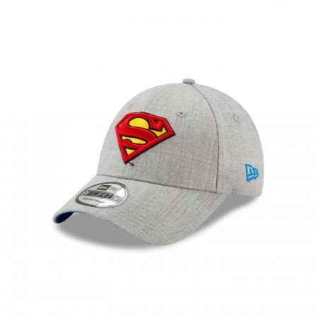 Superman Classic Logo Grey New Era 9Forty Adjustable Hat