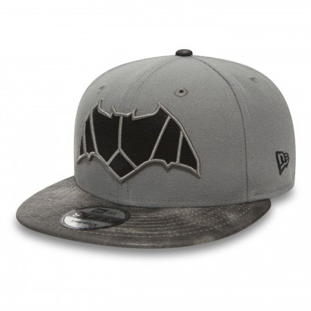 Batman Justice League Symbol on Grey New Era 9Fifty Adjustable Hat