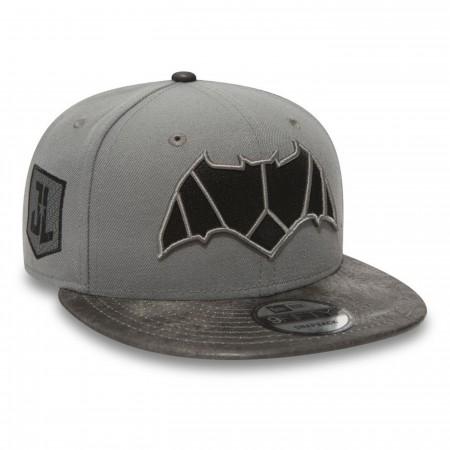 Batman Justice League Symbol on Grey New Era 9Fifty Adjustable Hat